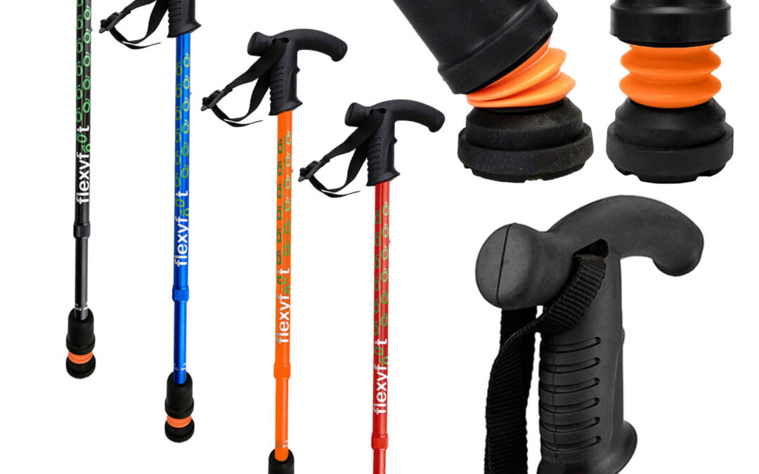 Walking sticks can give you confidence.