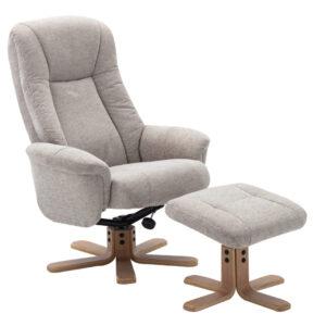 GFA Hawaii Swivel Recliner Chair with matching footstool